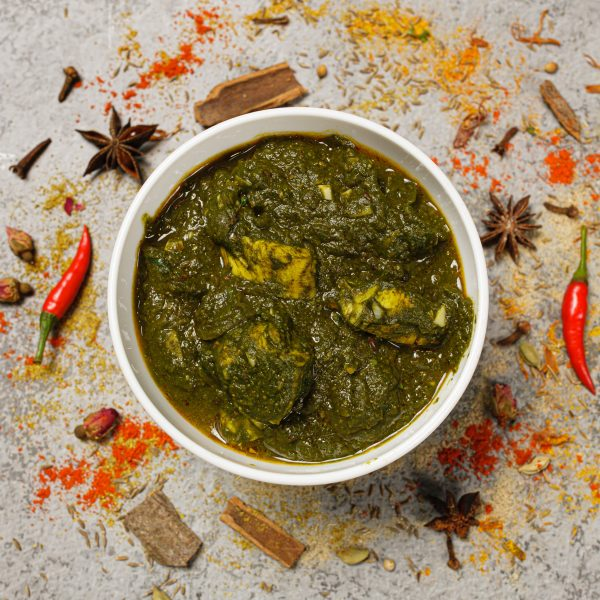 Chicken makhan palak