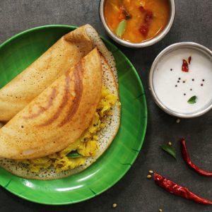 Dosa (We serve dosa for dine in only, idly and vada are not available for temporary)